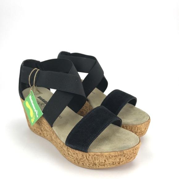 93d62d981 BioNatura Womens Salona Wedge Sandals Size 9